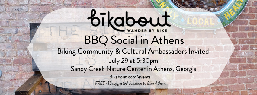 Bikeabout BBQ informational poster