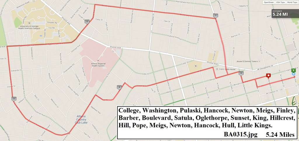 Route Map for March 6th Group Ride