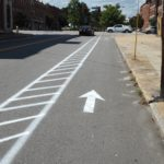 Even side streets received upgraded buffered bike lanes!
